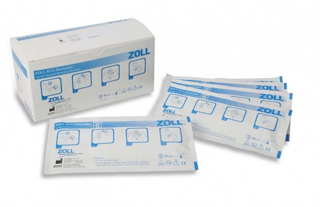 ZOLL 6 ECG Electrodes/Pouch 8900-0006