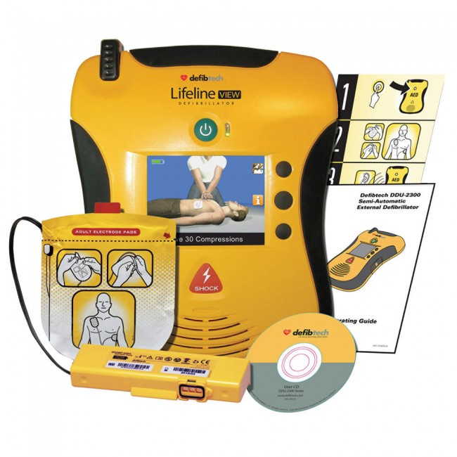 Defibtech Lifeline View Semi-Automatic AED Standard Package DCF-A2310EN