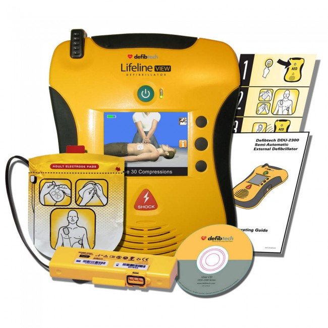 Defibtech Lifeline View Semi-Automatic AED FAA Approved Package DCF-A2313EN