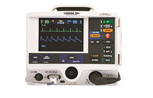 LIFEPAK 20e Defibrillator/Monitor Pacing SpO2 Package (Masimo) 70507-000091 (20ePCMD)