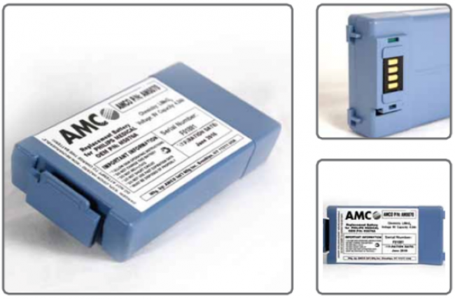 philips heartstart frx battery M5070A mfg by amco