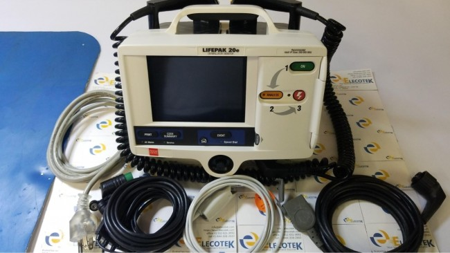 Physio-Control LIFEPAK 20e With SpO2 And Hard Paddles