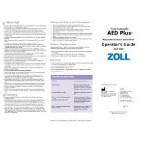 ZOLL AED Plus Accessories  ZOLL Administrative Software , CD ROM  ZOLL Part # 9650-0311-01