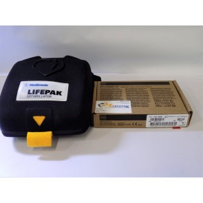 physio control lifepak cr plus aed with replacement kit and battery