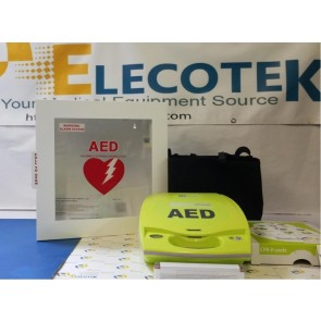 ReCertified ZOLL AED Plus Semi-Automatic With Alarmed Cabinet 5 Years Warranty