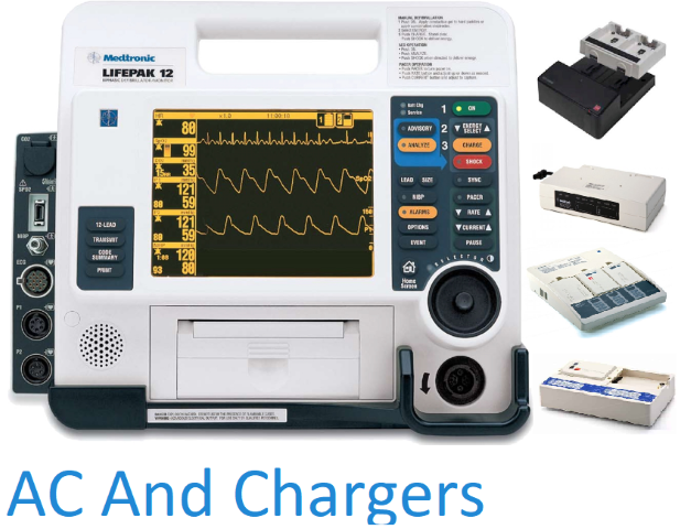 Physio-Control LIFEPAK 12 Defibrillators/Monitors Chargers And AC Adapters