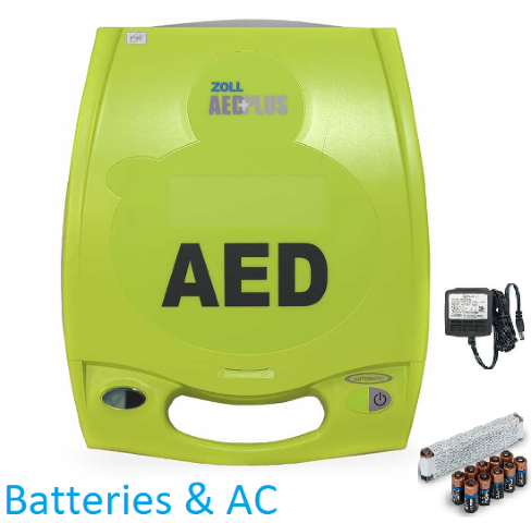 ZOLL AED Plus Batteries And AC-Adapters